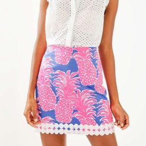 Lilly Pulitzer Izzy Skirt Little Flamenco Size 8